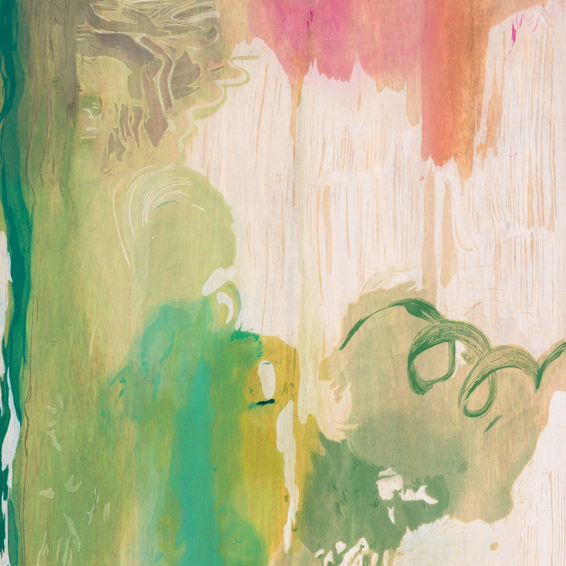 "Detail of ""Snow Pines"" (2004) by Helen Frankenthaler"