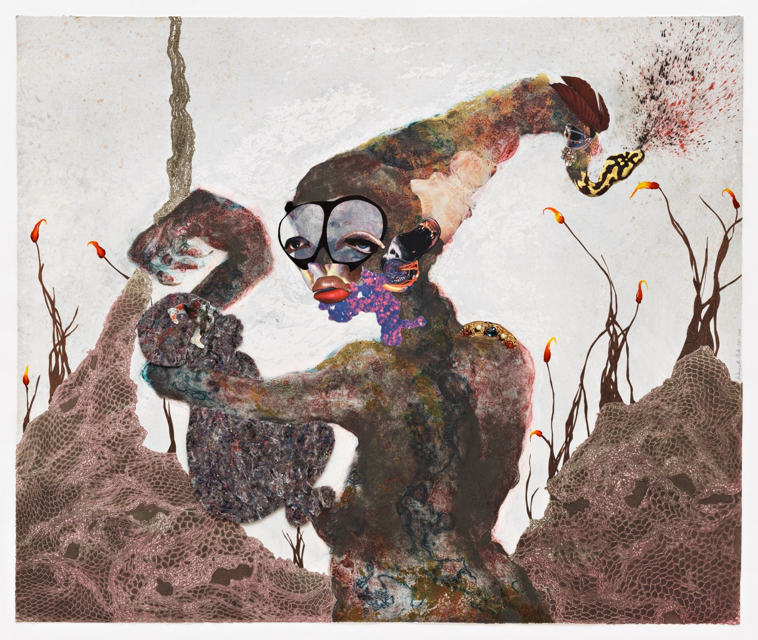 """Second Born"" (2013) by Wangechi Mutu"