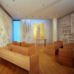Interior of the Nevelson Chapel at St. Peter's Church (courtesy nevelsonchapel.org)