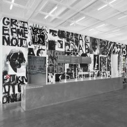 "Installation view of Adam Pendleton in ""Grief and Grievance"" (Photo: Dario Lasagni)"