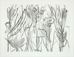 """Harvest Kiss (In Winter)"" (2008) by Ghada Amer and Reza Farkhondeh"