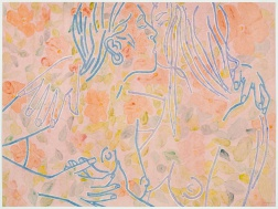 """Cool Pinks"" (2008) by Ghada Amer and Reza Farkhondeh"