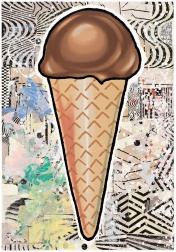 """Chocolate Cone"" (2007) by Donald Baechler"