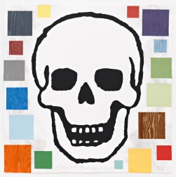 """Abstract Composition with Skull"" (2009) by Donald Baechler"
