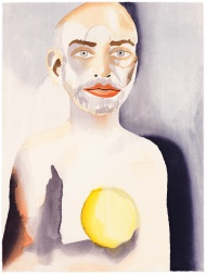 """Self-Portrait with Lemon Heart"" (2008) by Francesco Clemente"