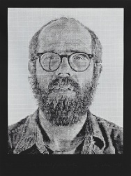 """Self-Portrait/White Ink"" (1978) by Chuck Close"