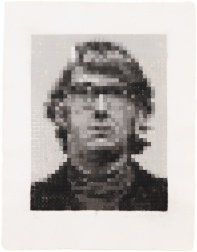 """Keith II"" (1981) by Chuck Close"