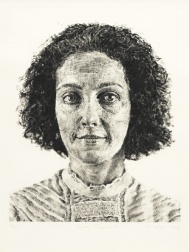 """Emily/Fingerprint"" (1986) by Chuck Close"