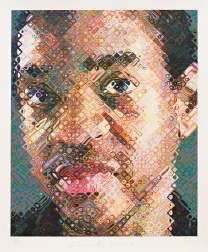 """Lyle"" (2003) by Chuck Close"