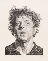 """Phil/Fingerprint"" (2009) by Chuck Close"