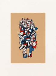 """Celebrator (Kraft)"" (1973) by Jean Dubuffet"