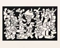 """Evocations"" (1976) by Jean Dubuffet"