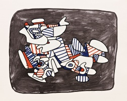 """Lion Heraldique"" (1976) by Jean Dubuffet"