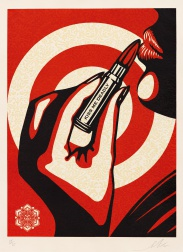 """Kiss Me Deadly"" (2012) by Shepard Fairey"