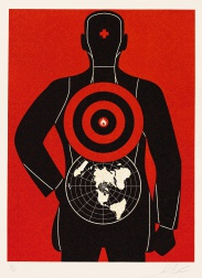 """Global Target"" (2012) by Shepard Fairey"