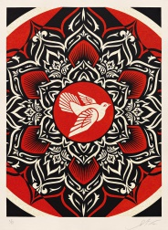 """Lotus Target Black"" (2012) by Shepard Fairey"
