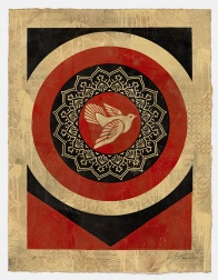 """Dove Target Red, HPM"" (2012) by Shepard Fairey"