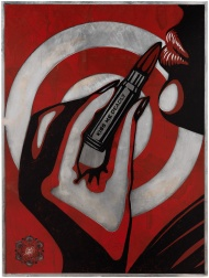 """Kiss Me Deadly (Plate)"" (2012) by Shepard Fairey"