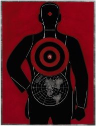 """Global Target (Plate)"" (2012) by Shepard Fairey"