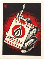 """Black Gold"" (2015) by Shepard Fairey"