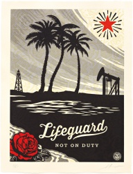 """Lifeguard Not on Duty"" (2015) by Shepard Fairey"