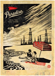 """Paradise Turns, HPM"" (2015) by Shepard Fairey"