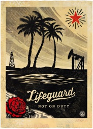 """Lifeguard Not on Duty, HPM"" (2015) by Shepard Fairey"