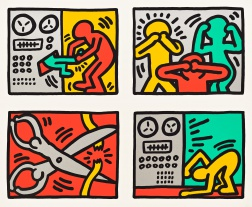 """Pop Shop Quad III"" (1989) by Keith Haring"