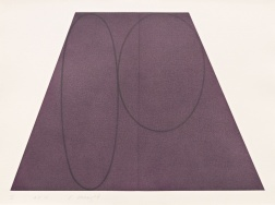 """Plane/Figure Series, Folded II (Purple)"" (1993) by Robert Mangold"