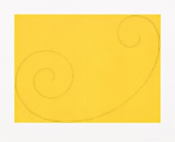 """Yellow Curled Figure"" (2002) by Robert Mangold"
