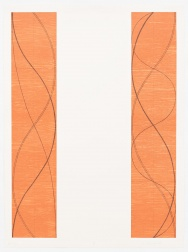 """Two Columns, B"" (2004) by Robert Mangold"