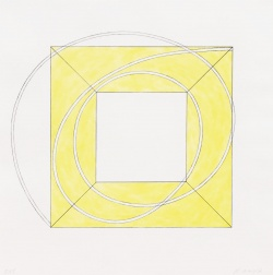 """Framed Square with Open Center A"" (2013) by Robert Mangold"