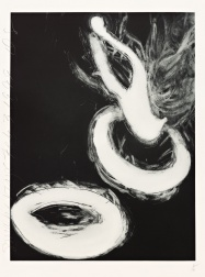 """Smoke Rings (2 of 2)"" (1999) by Donald Sultan"