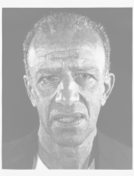 """Alex/Reduction Print"" (1993) by Chuck Close"