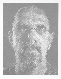"""Self-Portrait"" (2007) by Chuck Close"
