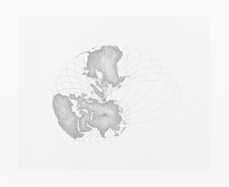 """Map Projection: The Snail"" (1978) by Agnes Denes"
