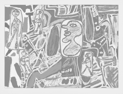"""Faits Memorables II"" (1978) by Jean Dubuffet"