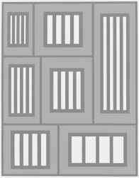 """Prisons"" (2012) by Peter Halley"
