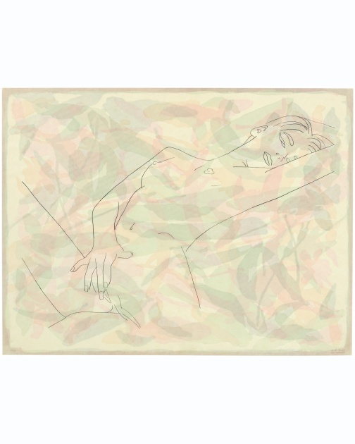 """Naughty, Lonely, but Happy"" (2009) by Ghada Amer and Reza Farkhondeh"