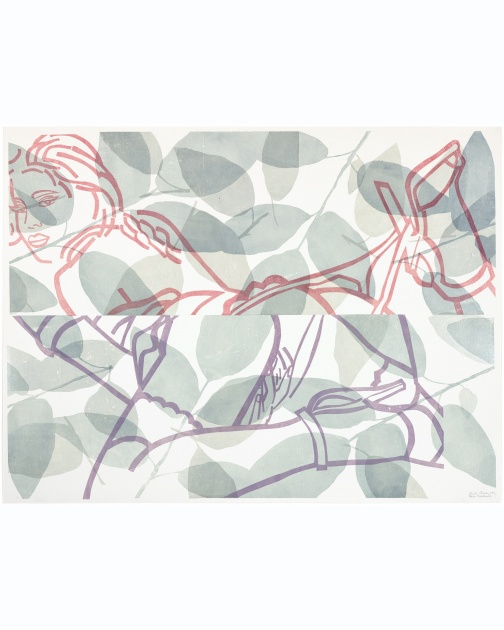 """Waiting for Tarzan"" (2008) by Ghada Amer and Reza Farkhondeh"
