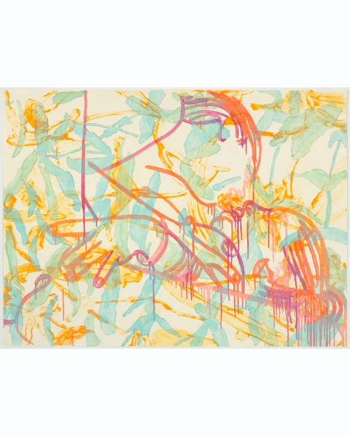 """Smack"" (2008) by Ghada Amer and Reza Farkhondeh"