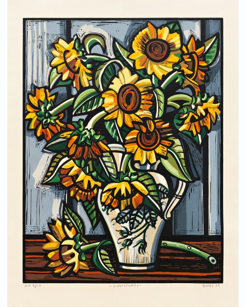"""Sunflowers"" (2008) by David Bates"