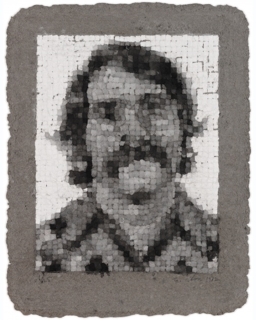 """Robert Manipulated"" (1982) by Chuck Close"
