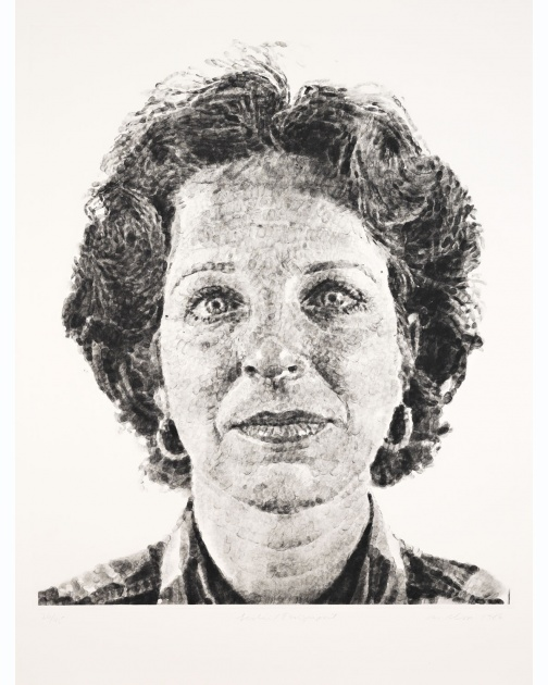 """Leslie/Fingerprint"" (1986) by Chuck Close"