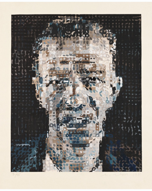 """Alex"" (1991) by Chuck Close"