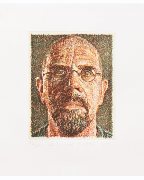 """Self-Portrait/Scribble/Etching"" (2001) by Chuck Close"
