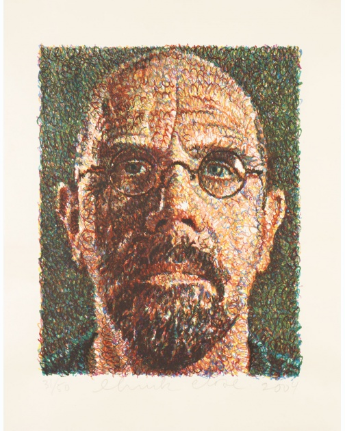 """Self-Portrait"" (2004) by Chuck Close"