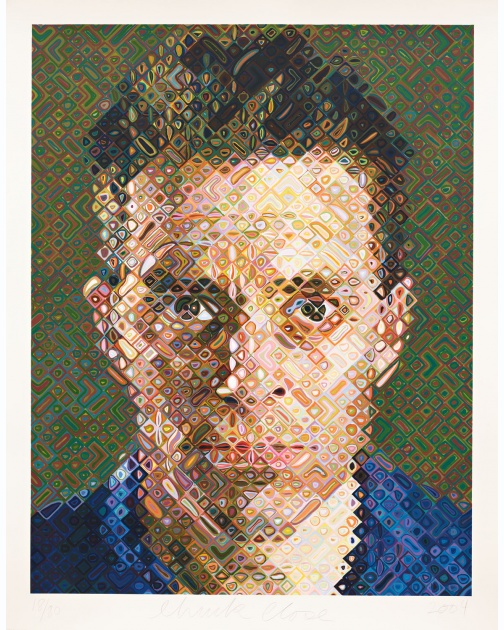 """James"" (2004) by Chuck Close"