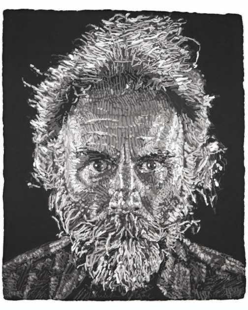 """Lucas Paper/Pulp"" (2006) by Chuck Close"