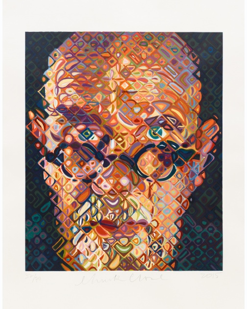 """Self-Portrait"" (2015) by Chuck Close"